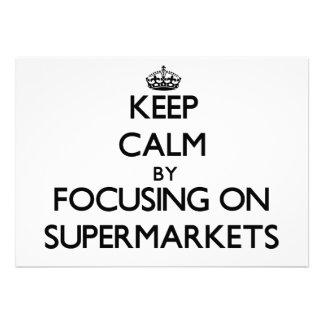 Mantenha a calma focalizando em supermercados