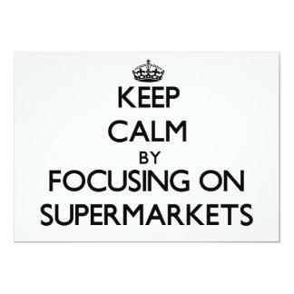 Mantenha a calma focalizando em supermercados convites personalizados