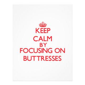 Mantenha a calma focalizando em suportes panfletos