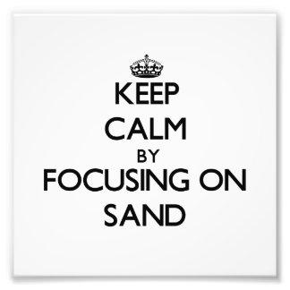 Mantenha a calma focalizando na areia