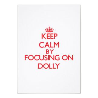 Mantenha a calma focalizando na zorra convites