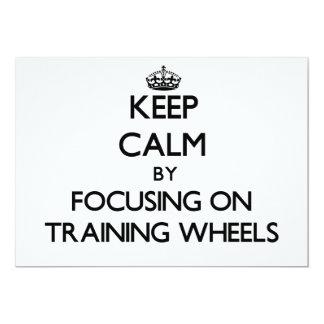Mantenha a calma focalizando nas rodas de convite