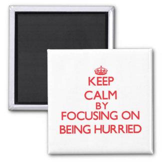 Mantenha a calma focalizando no aceleramento imã