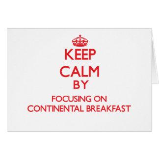 Mantenha a calma focalizando no almoço completo cartão