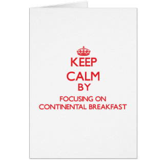 Mantenha a calma focalizando no almoço completo cartões