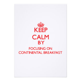 Mantenha a calma focalizando no almoço completo convite personalizados