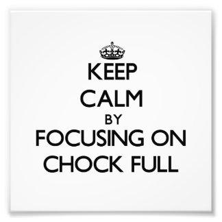 Mantenha a calma focalizando no Calço-Cheio Fotografia