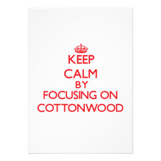 Mantenha a calma focalizando no Cottonwood Convite