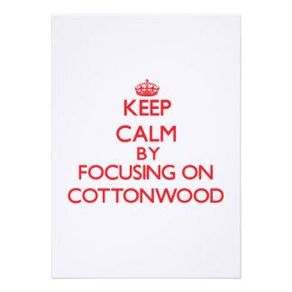 Mantenha a calma focalizando no Cottonwood Convite Personalizados