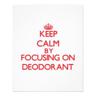 Mantenha a calma focalizando no desodorizante modelos de panfleto