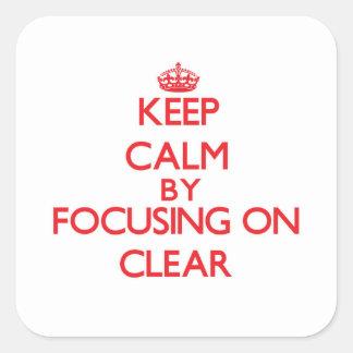 Mantenha a calma focalizando no espaço livre adesivo em forma quadrada