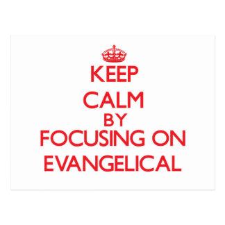 Mantenha a calma focalizando no EVANGELICAL Cartoes Postais