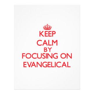 Mantenha a calma focalizando no EVANGELICAL Panfleto