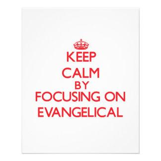 Mantenha a calma focalizando no EVANGELICAL Modelo De Panfletos
