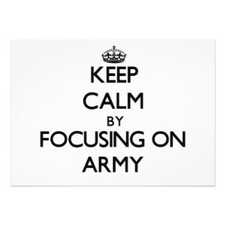 Mantenha a calma focalizando no exército