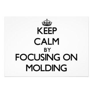 Mantenha a calma focalizando no molde