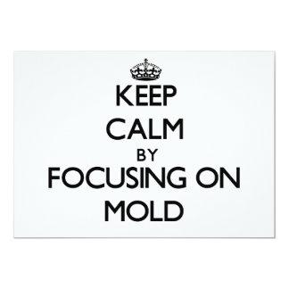 Mantenha a calma focalizando no molde convite