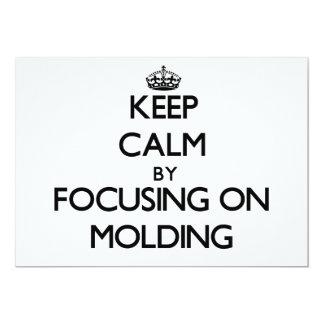 Mantenha a calma focalizando no molde convite 12.7 x 17.78cm