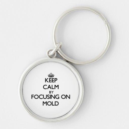 Mantenha a calma focalizando no molde chaveiros