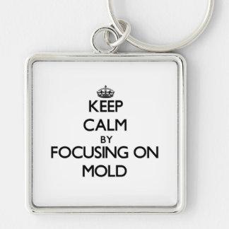 Mantenha a calma focalizando no molde chaveiro