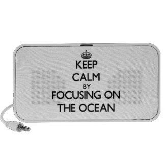 Mantenha a calma focalizando no oceano