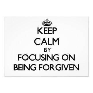 Mantenha a calma focalizando no perdão