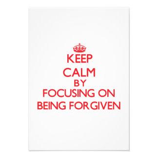 Mantenha a calma focalizando no perdão convites personalizado