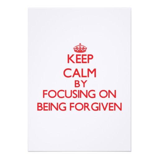Mantenha a calma focalizando no perdão convites