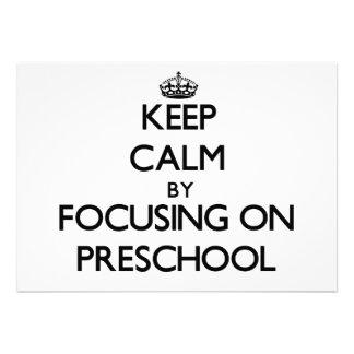Mantenha a calma focalizando no pré-escolar convite