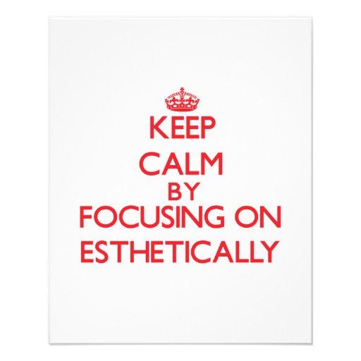 Mantenha a calma focalizando sobre ESTÈTICA Modelo De Panfleto