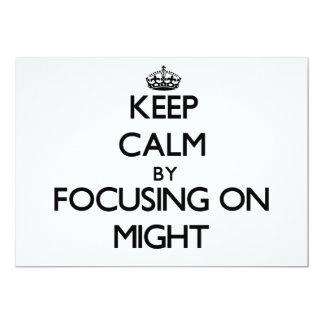 Mantenha a calma focalizando sobre pôde convite
