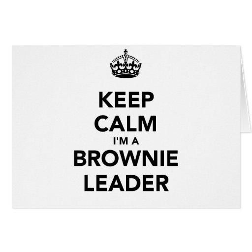 Mantenha a calma Im um líder de Browne Cartoes
