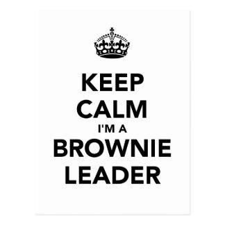 Mantenha a calma Im um líder de Browne Cartão Postal