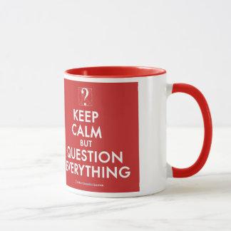 Mantenha a calma mas a pergunta tudo caneca