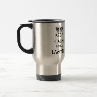 Mantenha a calma, mim são um advogado caneca térmica