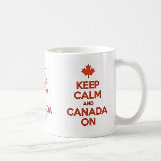 Mantenha a calma & o Canadá na caneca