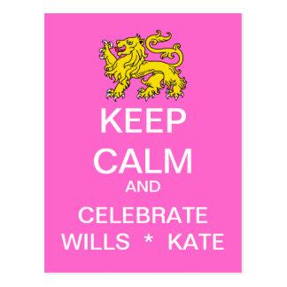 MANTENHA a CALMA para comemorar o cartão de Kate
