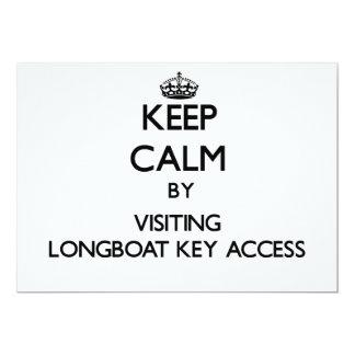 Mantenha a calma pelo acesso chave de visita convite personalizado