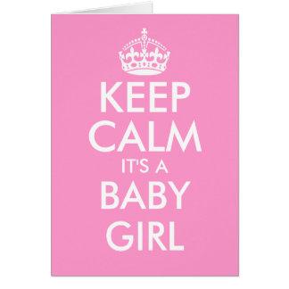 Mantenha a calma que é cartões de um bebé