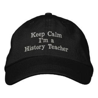 Mantenha a calma que eu sou um boné do professor