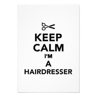 Mantenha a calma que eu sou um cabeleireiro convites