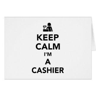 Mantenha a calma que eu sou um caixa cartão