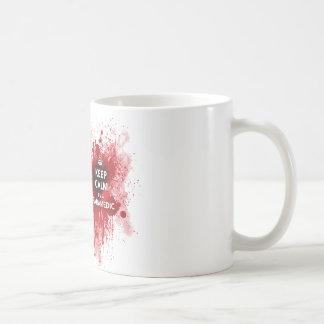 Mantenha a calma que eu sou um copo de café do caneca de café