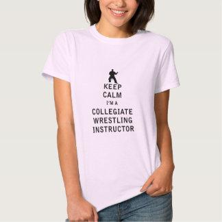 Mantenha a calma que eu sou um instrutor escolar t-shirt