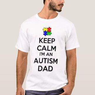Mantenha a calma que eu sou um pai do autismo tshirt