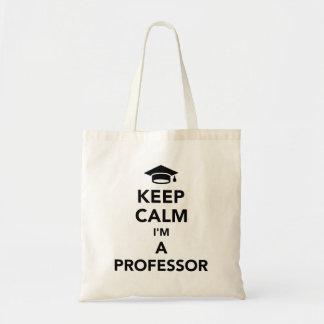 Mantenha a calma que eu sou um professor sacola tote budget