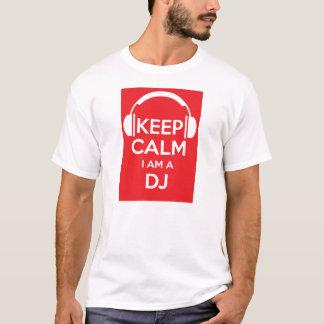 Mantenha a calma que eu sou um t-shirt do camiseta
