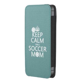 Mantenha a calma que eu sou uma mamã do futebol bolsinha para celular
