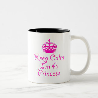 Mantenha a calma que eu sou uma princesa caneca de
