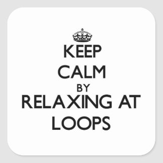 Mantenha a calma relaxando em laços Massachusetts Adesivo Em Forma Quadrada